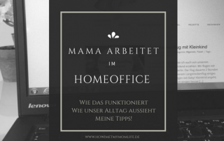 Mama Arbeitet im Home Office. Workingmom, Arbeiten als Mutter