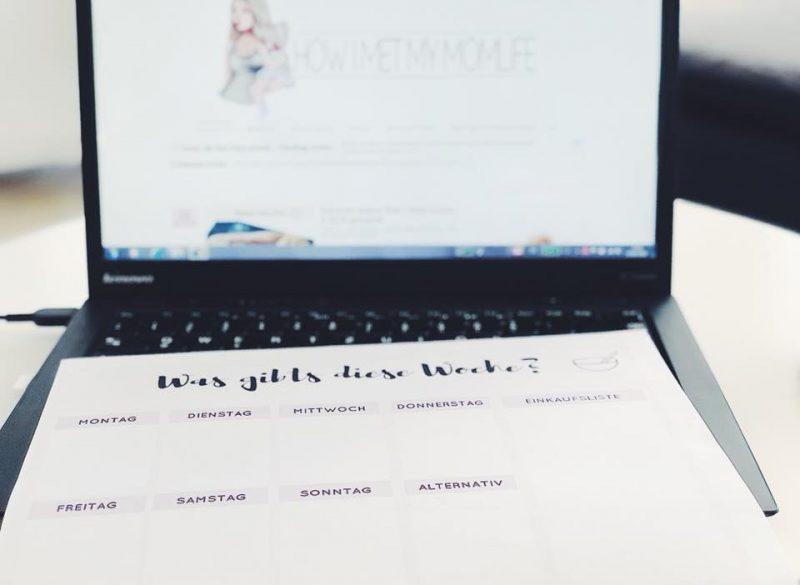 Wochensepieseplan zum ausdrucken Tonerpartner.de Titelbild