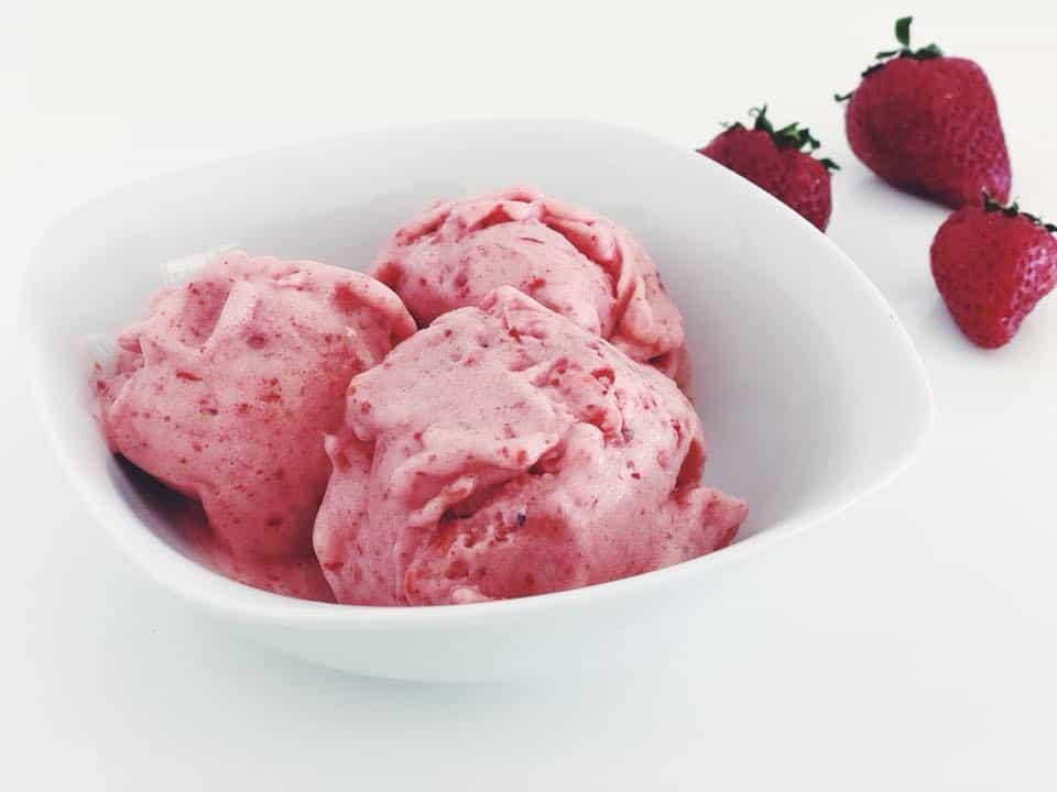 Nicecream Rezepte für Kinder Erdbeere