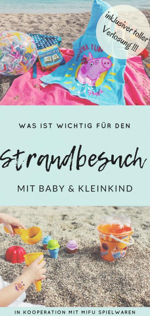 Strandbesuch mit Baby und Kleinkind Tipps und Gewinnspiel pin