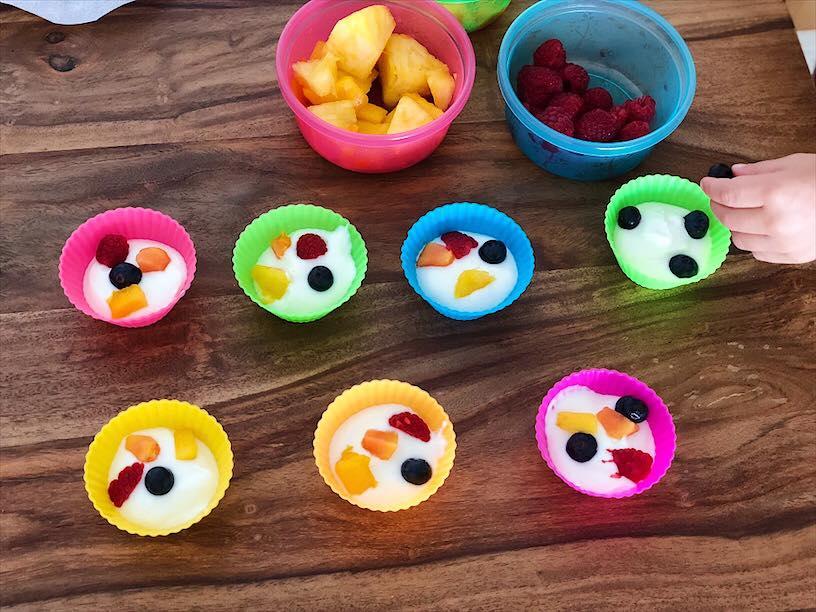 Frozsen Joghurt Muffins machen