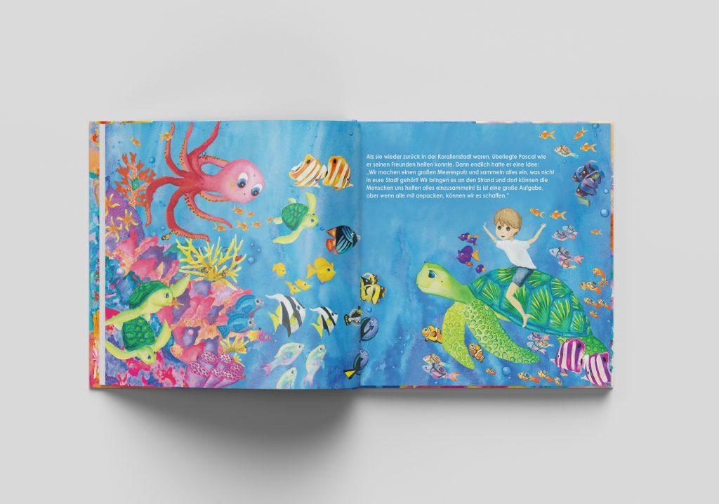 Kinder für den Schutz der Weltmeere sensibilisieren mit dem Kinderbuch Meeresabenteuer von United Letters Familie