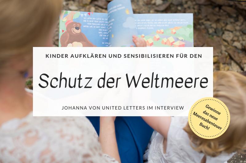 Kinder für den Schutz der Weltmeere sensibilisieren mit dem Kinderbuch Meeresabenteuer von United Letters Titel
