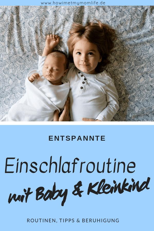 einschlafroutine mit baby und kleinkind abendroutine zwei kinder einschlafen geschwister abendrituale