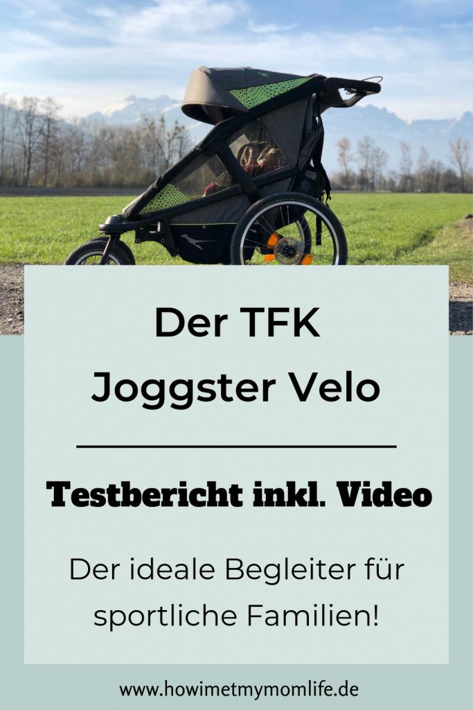 Testbericht zum TFK Joggster Velo inklusive Video Kinderwagentest Fahrradanhänger Kinder Test