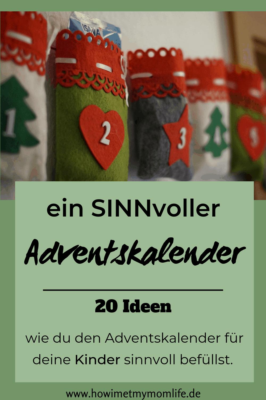 Sinnvolle Ideen für den Adventskalender für Kleinkinder Ideen Adventskalender selber machen Adventskalender befüllen Kinder
